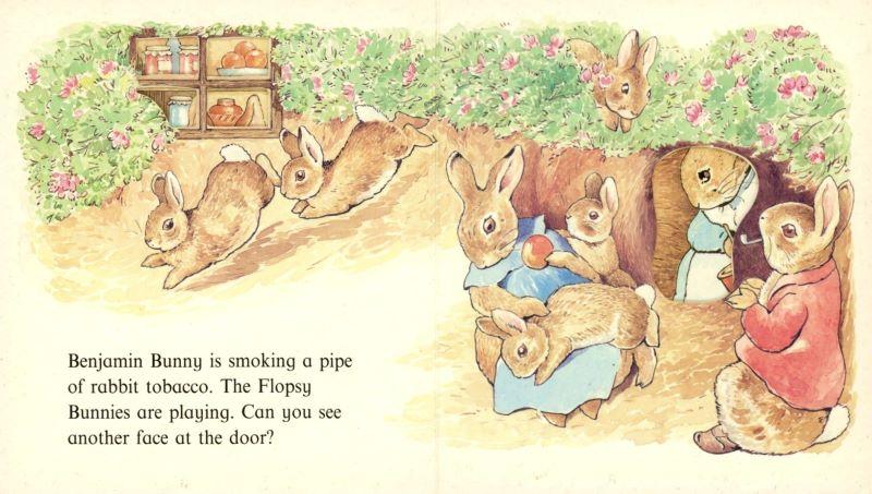 peter rabbit and smoking