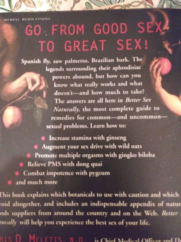 Better Sex Naturally back cover