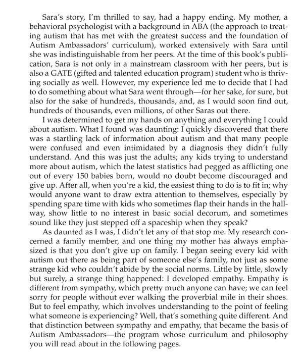 Autism Ambassadors excerpt