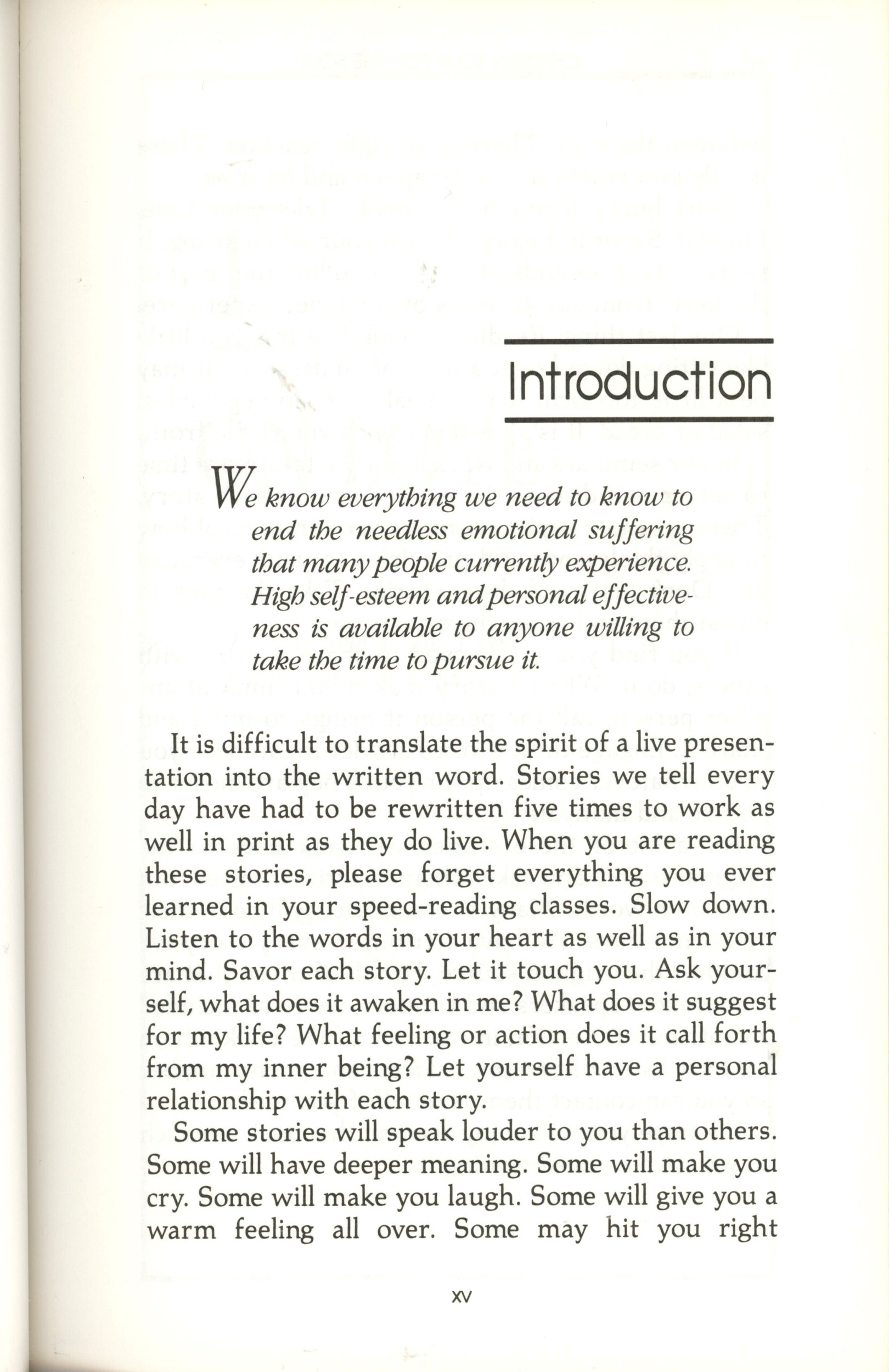 introduction chicken soup book