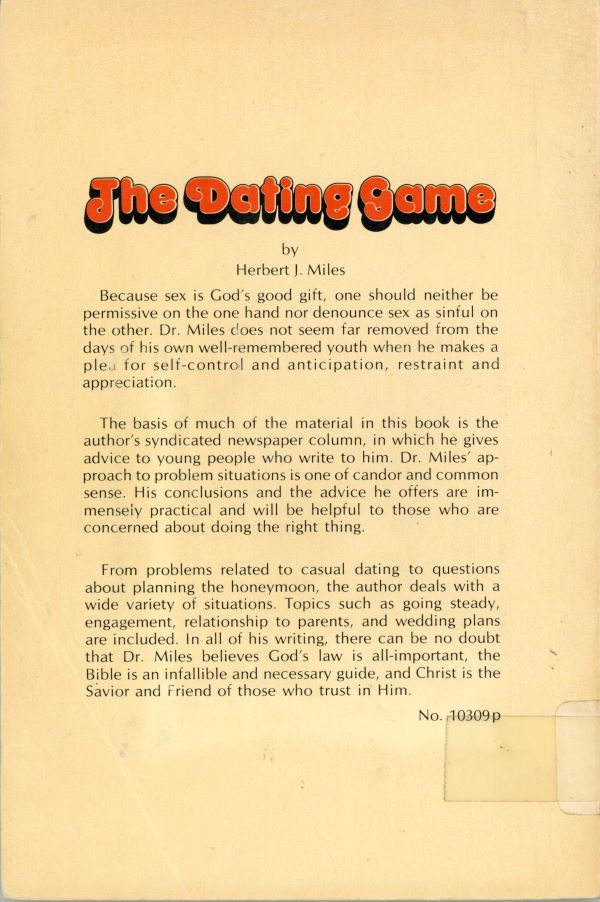 back cover dating game