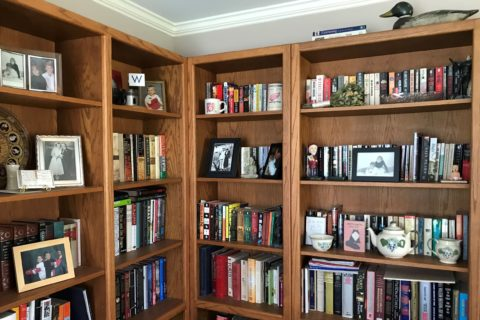 Mary's library for weeding