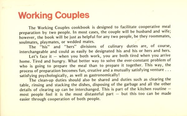 about working couples