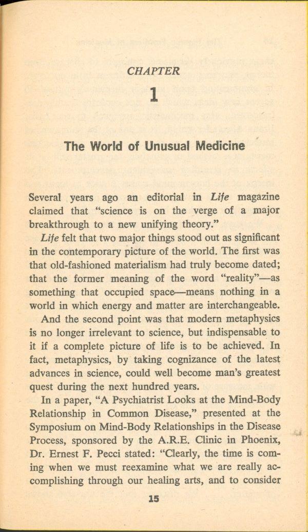world of unusual medicine chapter