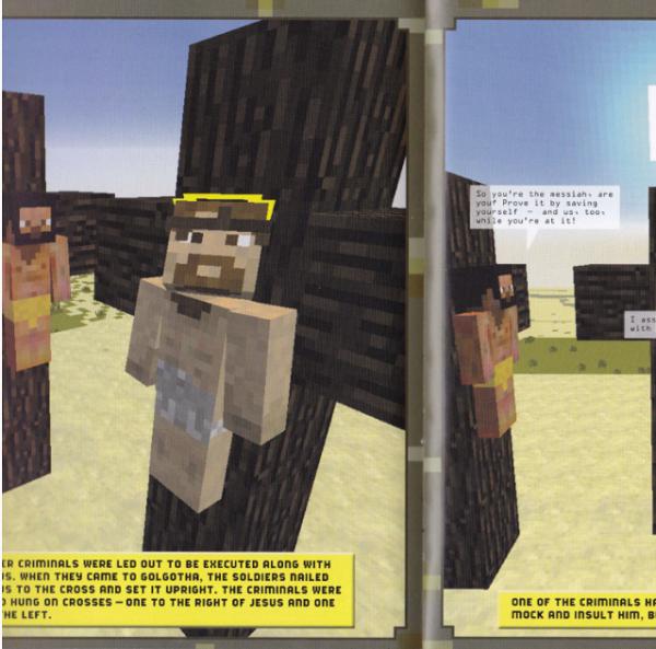 Minecraft crucifixion