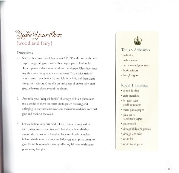 Woodland Fairy instructions