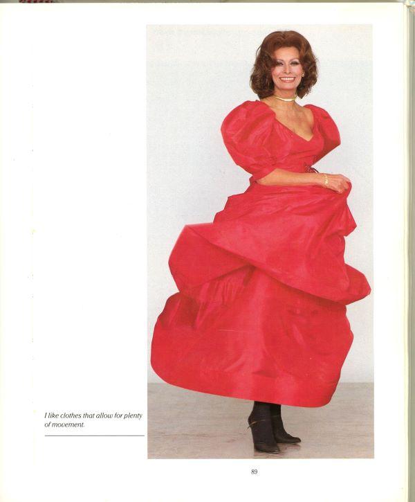 sophia in a ball gown