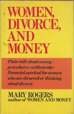 women divorce and money cover