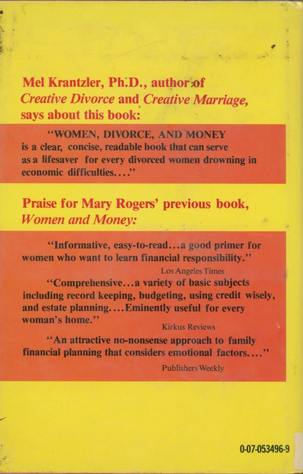 women divorce and money back cover