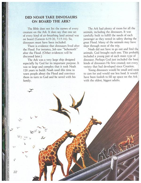 Dinosaurs on Noah's Ark