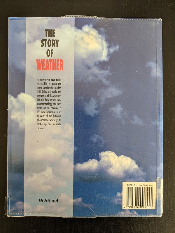 Story of weather back cover