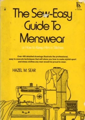 sew easy menswear cover