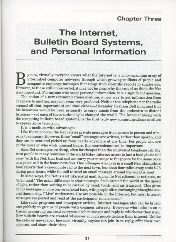 bbs and personal information