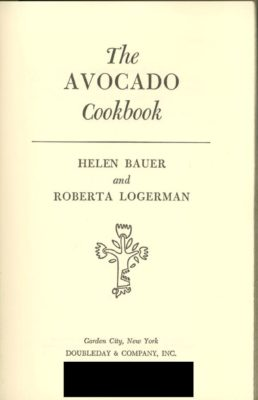 avocado cookbook cover