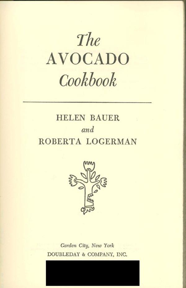 avocado cookbook cover