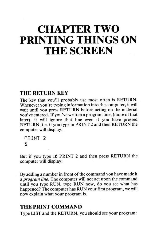 The Return Key