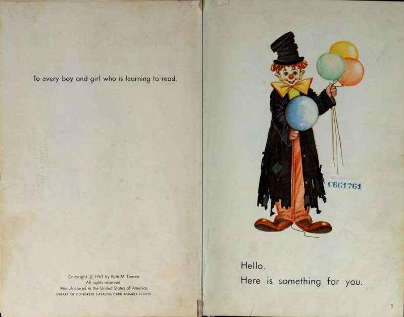 Clown book dedication
