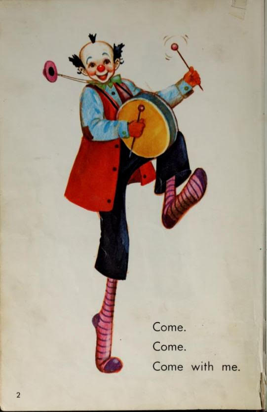 Clown with drum