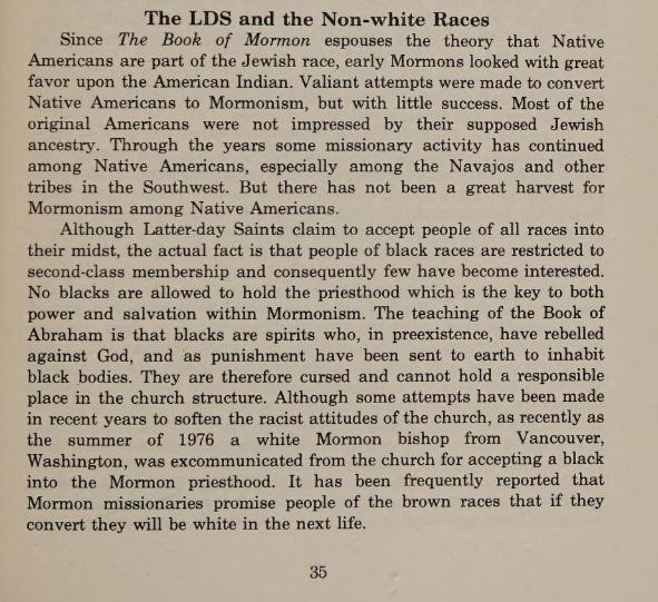 LDS and Non-White Races
