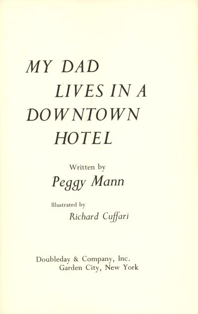 my dad lives in a downtown hotel title page