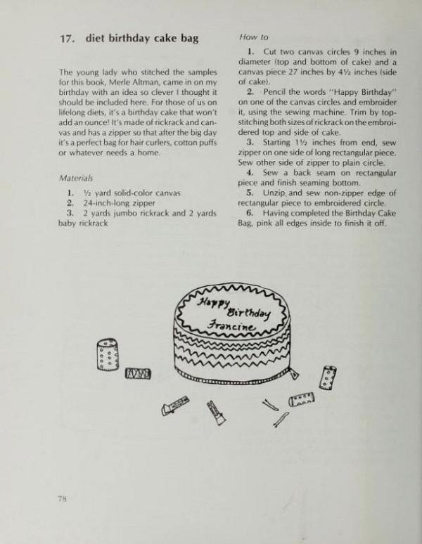 Diet birthday cake bag
