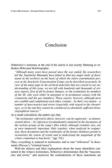 Holocaust Handbook conclusion