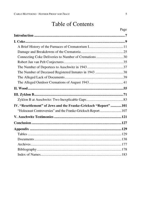 Holocaust contents