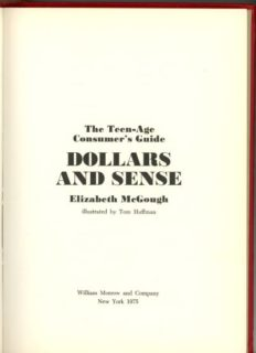 title page for Dollars and Cents