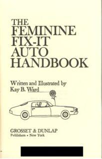 The feminine fix-it Auto Handbook cover page