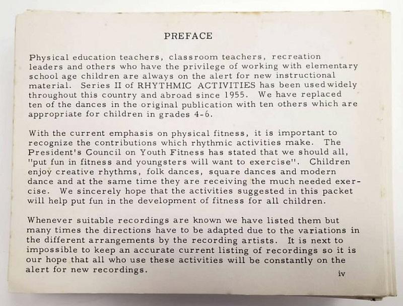Rhythmic Activities Preface